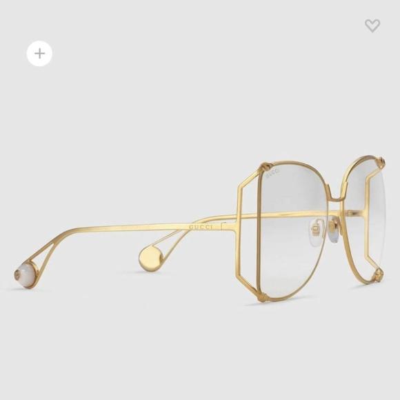 49e2ad8d47 Gucci Accessories - Brand New Oversize round-frame metal glasses